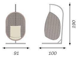 Dondolo Da Giardino Sospeso : Dondolo uovo poltrona sospesa cuscino tortora rattan