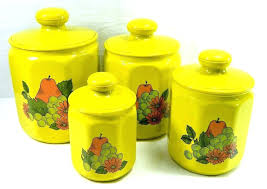retro canisters vintage kitchen jars for unique kitchen canisters green avocado canister set retro