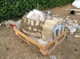 picture of cementing the bricks in place