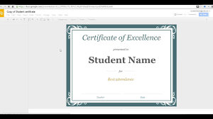 Congratulations Certificates Templates Create A Certificate In Google Slides Template Word Editable