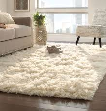 impressing white fuzzy area rug of awesome rugs plush