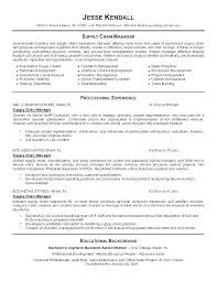 Supply Chain Cover Letter Supply Chain Resume Supply Chain Resume Examples Supply Chain