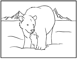 Small Picture Polar Bear Coloring Page fablesfromthefriendscom
