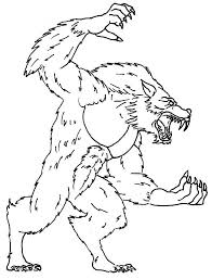 Small Picture Werewolf Coloring Pages Bestofcoloringcom