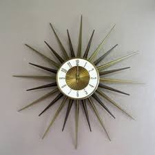 elgin starburst clock mid century from