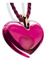tendre coeur pendant fuchsia s br lalique