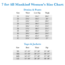 Seven Jean Size Chart Prosvsgijoes Org