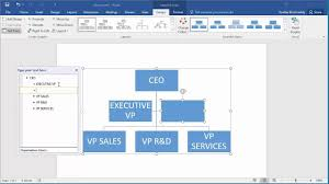 Can You Make An Org Chart In Excel How To Create An Organization Chart In Word 2016