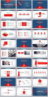 Powerpoint Theme Professional 30 Blue Red Business Report Powerpoint Templates Business