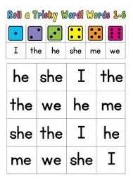 Sight words worksheets for preschool and kindergarten. Jolly Phonics Tricky Words Bundle 1 Words 1 36 Jolly Phonics Tricky Words Tricky Words Jolly Phonics