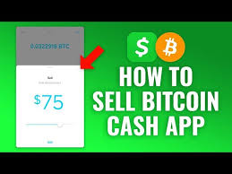 how to sell bitcoin with cash app you