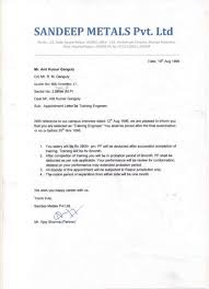 Appointment Letters Adorable SANDEEP METALS Appointment Letter Promotion Latter Reliving Letterpdf