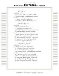 Wine List Template Free Word Menu For Pages Publisher