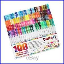 Caliart Markers 100 Color Chart Fine Point Pens