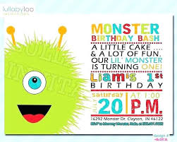 Lil Monster Birthday Invitations Little Monster Birthday Invitations Venturae Co