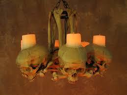 life size skull hip bone chandelier w wax candles