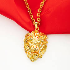 marlary 18k gold plated jewelry gold copper lion s head pendant