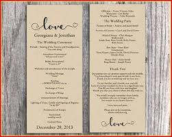 Free Microsoft Word Wedding Program Template Free Printable Wedding Program Templates Word Fan Ethercard Co