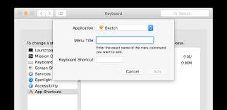 Keyboard Shortcuts For Sketch App
