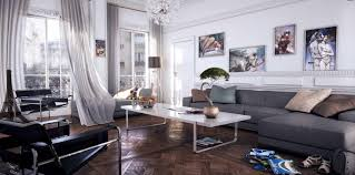 Urban Living Room Living Room Cool Contemporary Living Room Design With Gray L