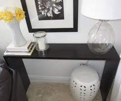 Decorating Console Table Ideas Amazing Black Finished Hardwood Extra Long Console Table With