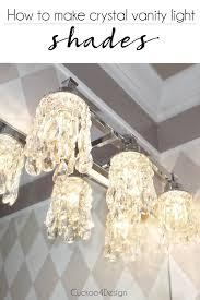 Lighting diy Ceiling Diy Crystal Vanity Light Shades Cuckoo4design Diy Crystal Vanity Light Shades Cuckoo4design