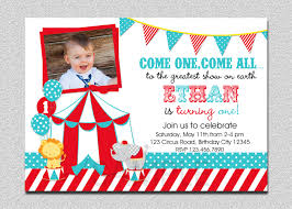 circus carnival first birthday invitation card designed by thetrendyerfly