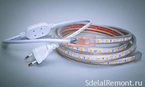 Overview <b>LED</b> strips with a connection <b>220</b> Volts without transformer
