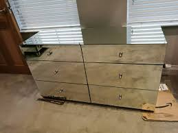 next mirrored furniture. NEXT DECO WIDE MIRRORED CHEST 6 DRAWERS BEDROOM FURNITURE RRP £550 DAMAGED GLASS ! Next Mirrored Furniture O