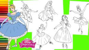 This is something here for everyone — from frozen to mickey, to the disney princesses and even the latest disney , pixar , star wars and marvel movies. Coloring Pages Disney Princess Ballet Costume Belle Cinderella Snow White Aurora Youtube