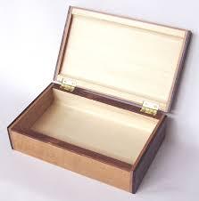 handmade wood small keepsake box open view