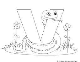 Small Picture Printable Animal Alphabet Letter V is for Viper animal alphabet