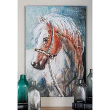 red horse canvas art