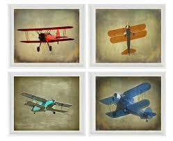 vintage flight wall art