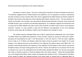 what was the short term significance of the amritsar massacre a  document image preview