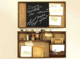 planning barn rustic wall organizer with chalkboard wooden pottery