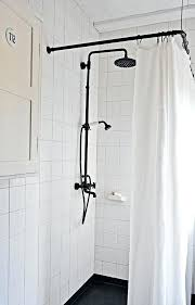 bathtub shower curtain rodhouseboat shower head setup black shower curtain rod from old metal ings black