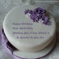 Birthday Cake With Name Sakshi The Cake Boutique