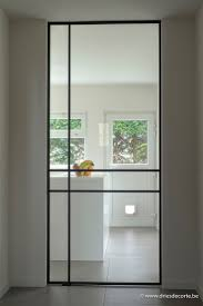 Steel and glass door - Villa in Sint-Idesbald Belgium - Execution by INCEE