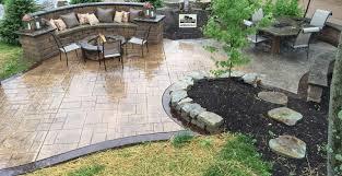 stamped concrete patio. Stamped Concrete Patio And Fire Pit Cincinnati Ohio 45140