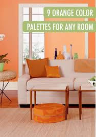 Orange Wall Paint Living Room Style At Home Meredith Millers Bright Abode Paint Colors