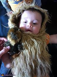 headpiece and beard baby chewbacca costume