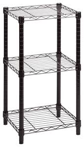 honey can do 3 tier black wire shelving tower 14 x15 x30 contemporary utility shelves by bisonoffice