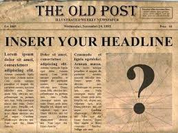 Newspaper Google Docs Template Editable Old Newspaper Template One Of A Number Nice