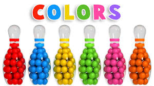 colors for kids. Exellent Kids Colors For Children To Learn With 3D Bowling Game  Colours Videos  Collection YouTube Throughout For Kids O