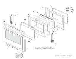 frigidaire oven door removal oven door schematic from sears parts direct frigidaire professional series oven door