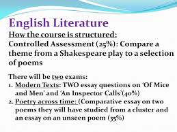 what will this presentation cover part gcse english language  5 english literature