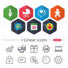 Calendar Speech Bubble And Download Signs Maternity Icons