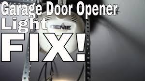 fix change the light bulb in your garage door opener genie chamberlain liftmaster craftsman sommer