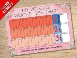 Details About Wedding Weight Loss Chart 3 Stone Slimming Dieting Goal Target Tracker